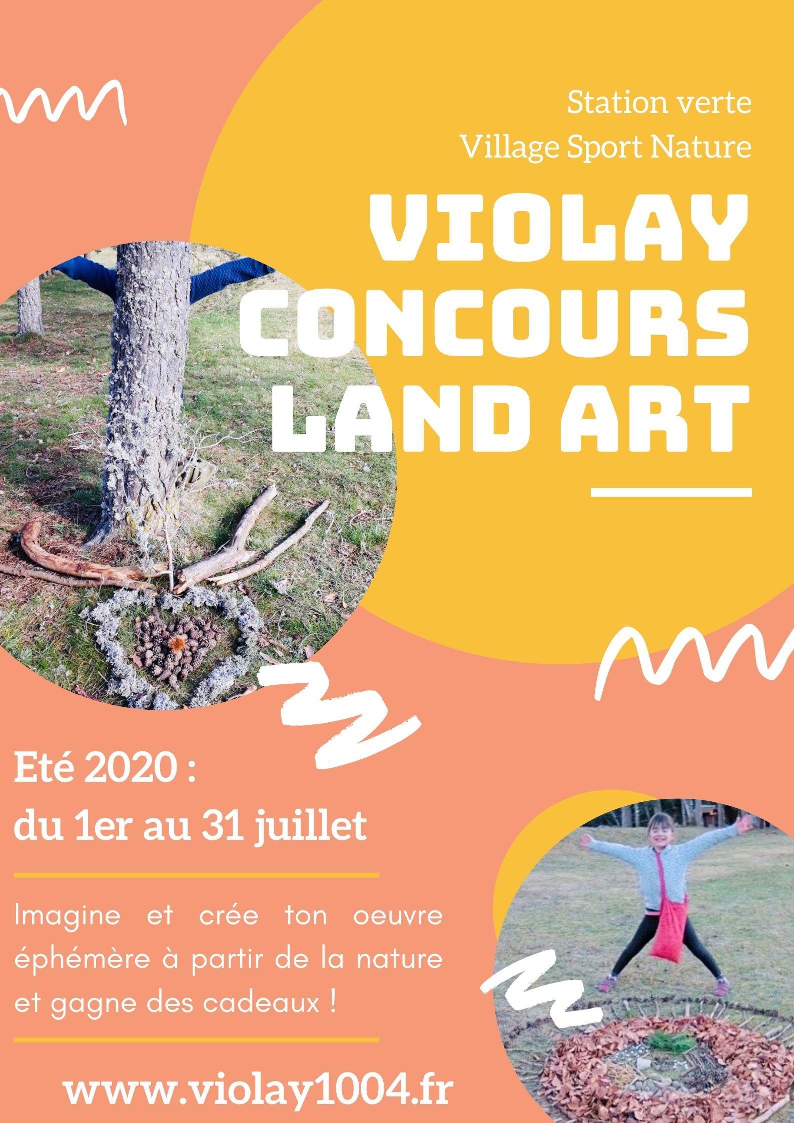 Affiche concours land art