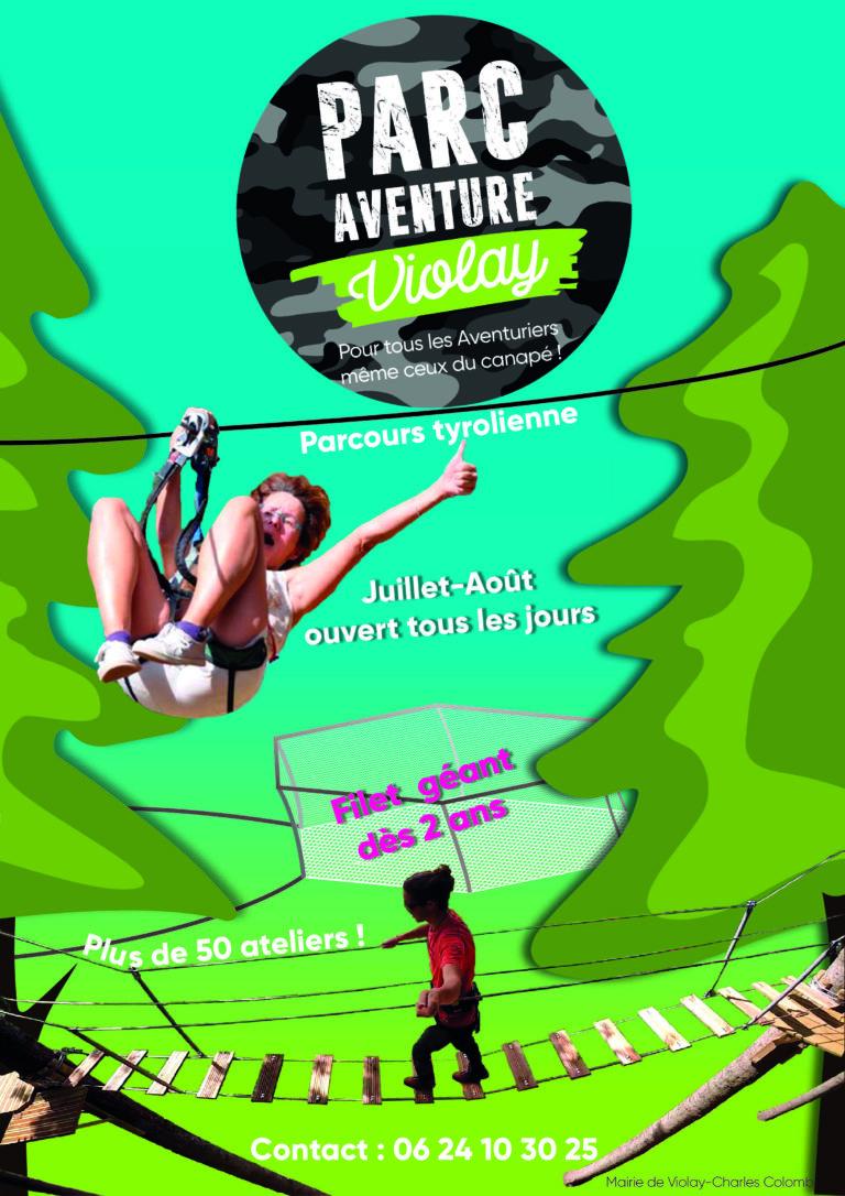 Affiche parc aventure