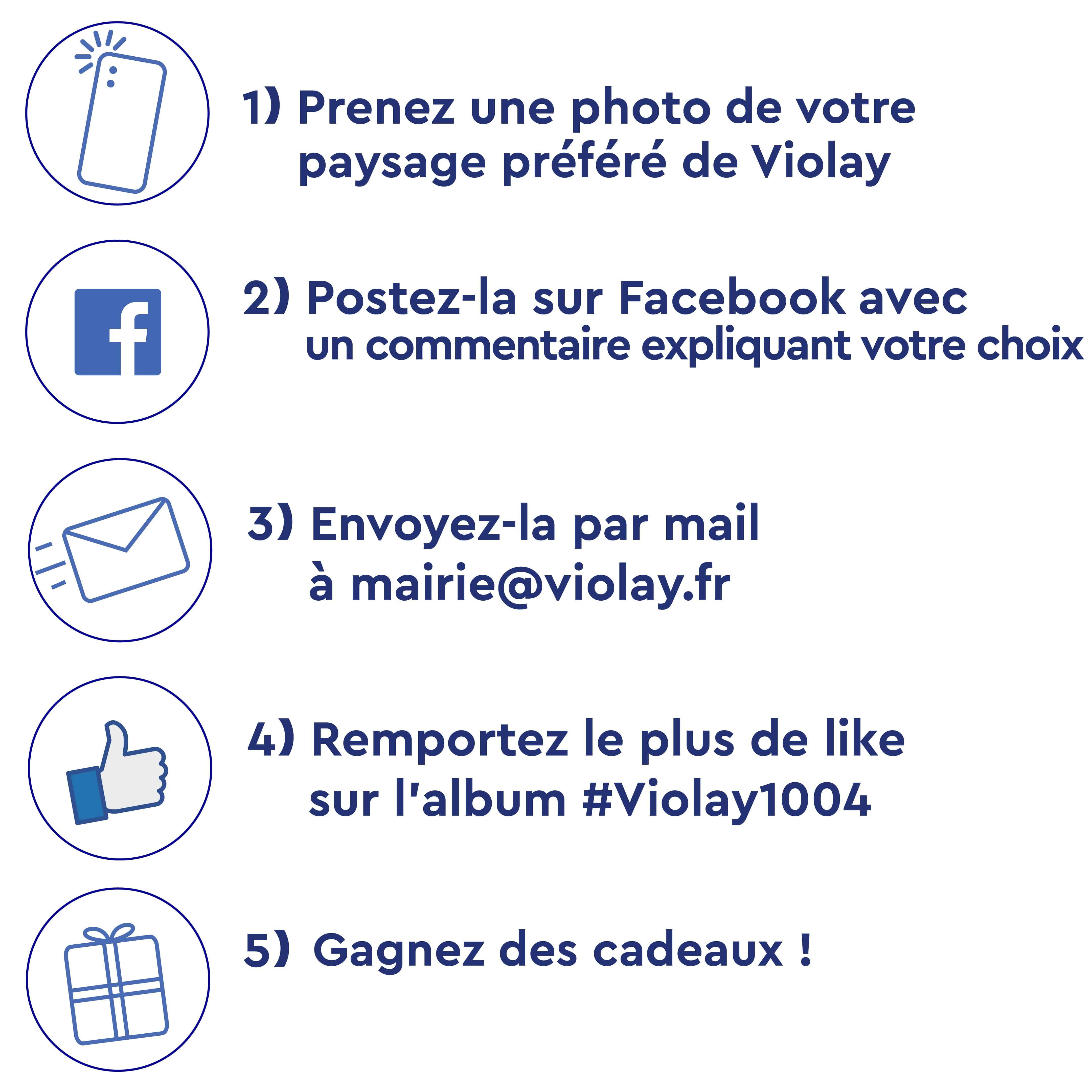 Les 5 étapes du jeu-concours photo Violay